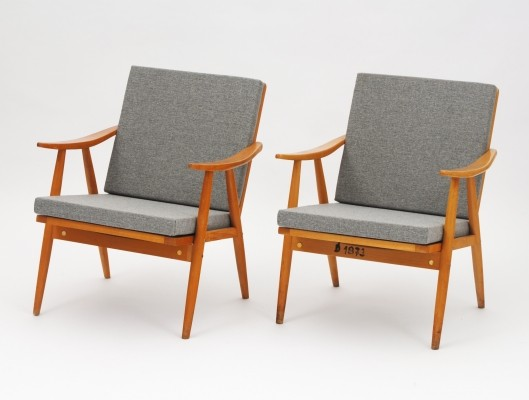 Pair of TON arm chairs, 1960s