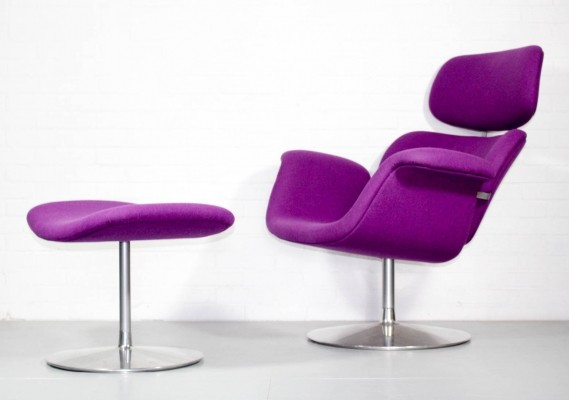 Big Tulip lounge chair from the sixties by Pierre Paulin for Artifort