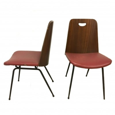 Pair of 'Mod.DU22' dining chairs by Gastone Rinaldi