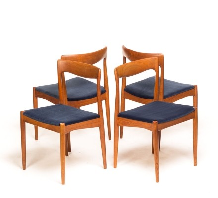 Set of 4 dinner chairs from the fifties by unknown designer for Vamo Sonderborg
