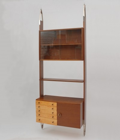 Set of 5 wall units from the sixties by unknown designer for Jitona Soběslav