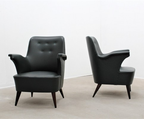 Set of 2 arm chairs from the forties by Anonima Castelli for unknown producer