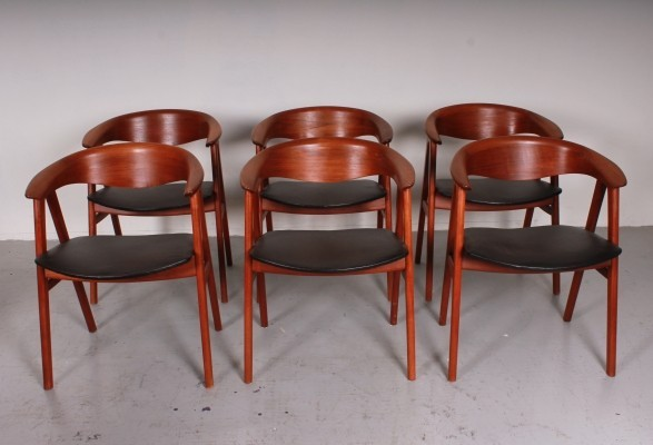 Set of 6 Model 52 arm chairs from the fifties by Erik Kirkegaard for Dux