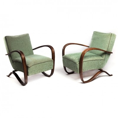 Set of 2 H-269 arm chairs from the thirties by Jindřich Halabala for Spojene UP Zavody