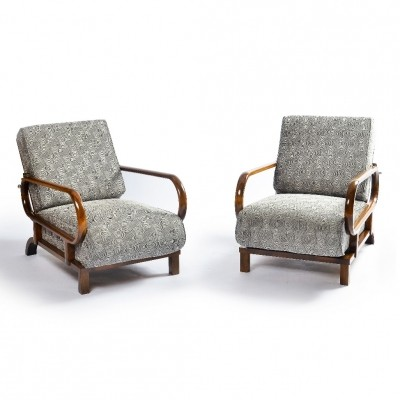 Set of 2 lounge chairs from the thirties by unknown designer for unknown producer