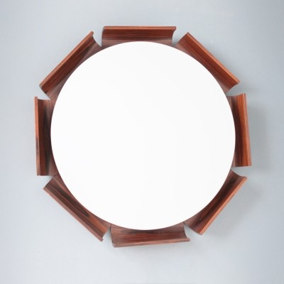 Italian Backlit Rosewood Mirror by ISA Bergamo