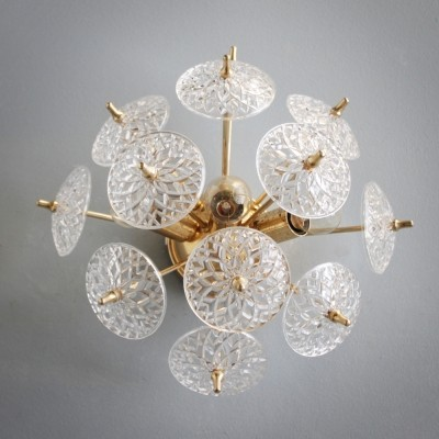 Wall Light or Flush Mount by Val St Lambert