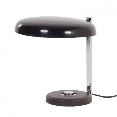 Oslo Desk Lamp Heinz Pfaender from Hillebrand, 1960s – black