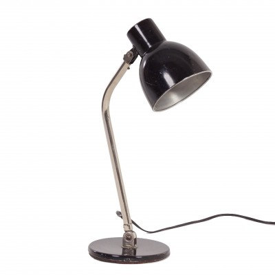 Hala Desk Lamp Model 98 by H. Busquet, 1950s – black metal