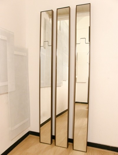 Set of 3 Gronda mirrors from the seventies by Luciano Bertoncini for Elco
