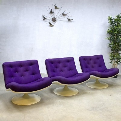 3 F978 lounge chairs from the fifties by Geoffrey Harcourt for Artifort