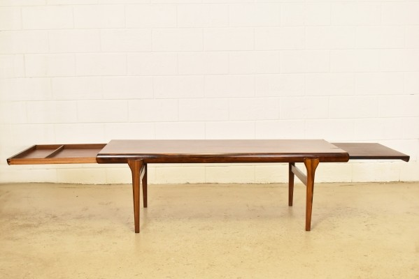 Extra large Brazilian rosewood coffee table by Johannes Andersen, 1960s