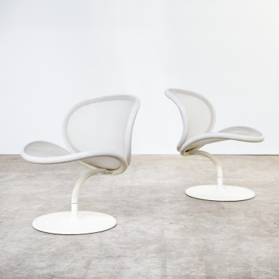 Set of 2 O-line lounge chairs from the eighties by Herbert Ohl for Wilkhahn