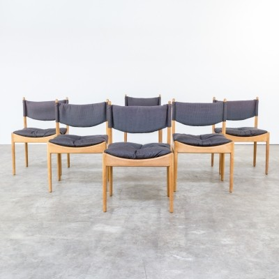 Set of 6 dinner chairs from the sixties by Kristian Vedel for Søren Willadsen