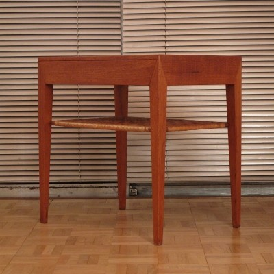 Severin Hansen Teak & Rattan Side Table