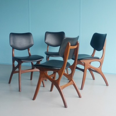 Set of 4 dinner chairs from the fifties by unknown designer for Pynock