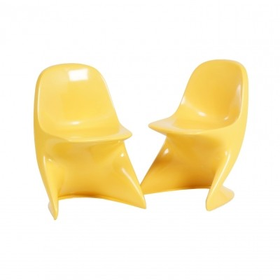 Casalino Childrens Chair by Alexander Begge for Casala, 1970 – set of two, yellow
