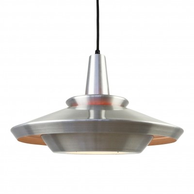 Scandinavian multilayer aluminium pendant, 1970s