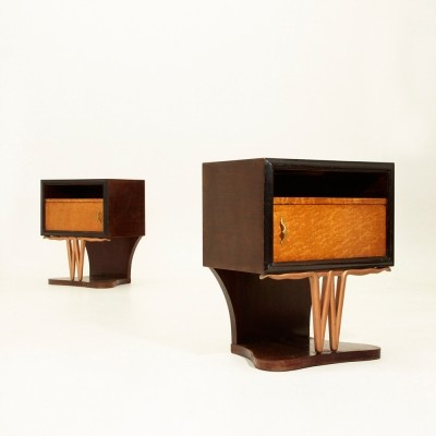 Night stand from the forties by unknown designer for unknown producer