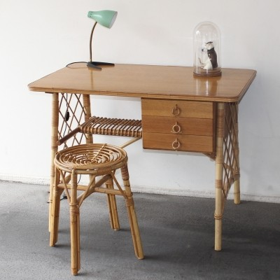 Writing desk from the fifties by Louis Sognot for unknown producer