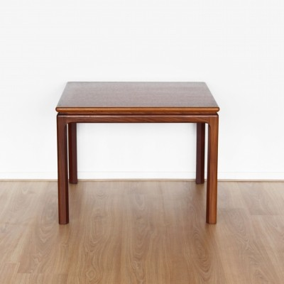 Teak square side or coffee table, 1960s