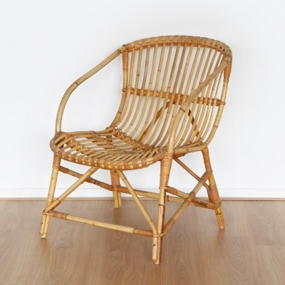 Low rattan chair, 1960s