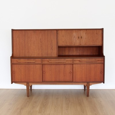 Danish mid century teakwood tall sideboard, 1960s