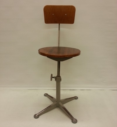 Adjustable office chair from the sixties by unknown designer for unknown producer