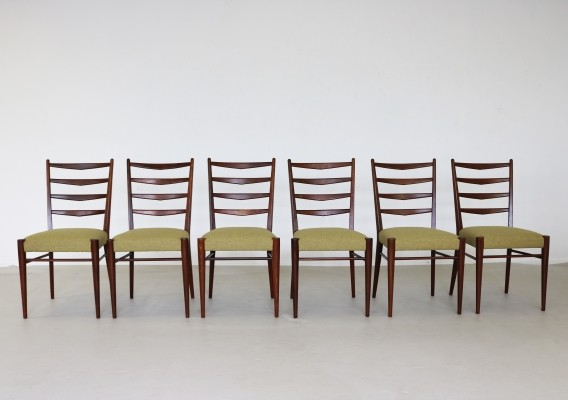 Set of 6 ST09 dinner chairs from the sixties by Cees Braakman for Pastoe