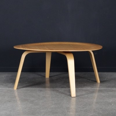 Eames CTW 'coffee table wood' in ash wood, 1990s
