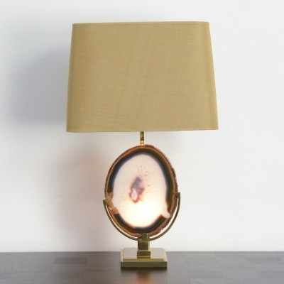 Magic Agate Table Lamp by Willy Daro, 1970s
