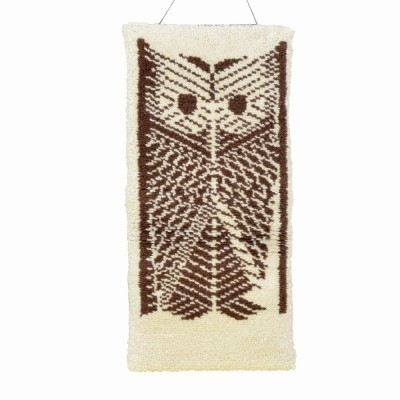 Owl Rug from the seventies by unknown designer for unknown producer