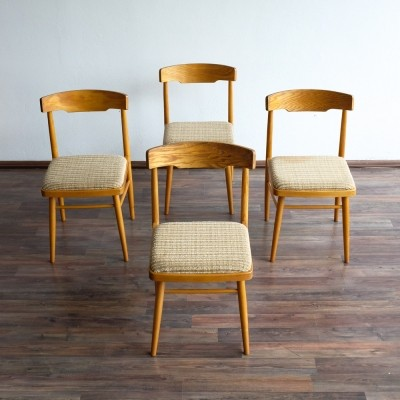 Set of 4 dinner chairs from the sixties by unknown designer for Ton N. P. Bystřice pod Hostýnem