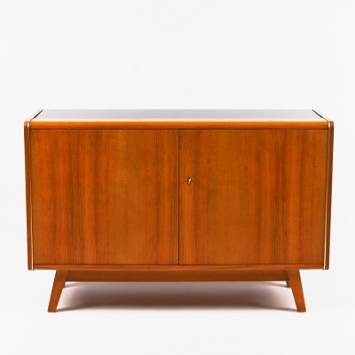Cabinet with opaxit glass by Bohumil Landsman, 1960s