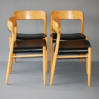 Set of 4 dinner chairs from the sixties by Niels Otto Møller for JL Møller Møbelfabrik