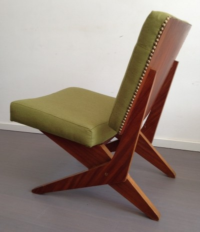 2 x FB18 Scissor lounge chair by Jan van Grunsven for Pastoe, 1950s