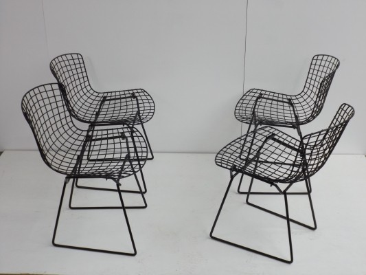 Set of 4 dinner chairs from the fifties by Harry Bertoia for Knoll