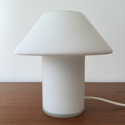 Glass mushroom desk lamp from the seventies by unknown designer for Hala Zeist