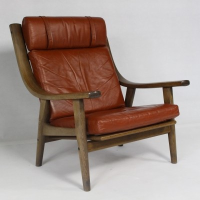 Highback GE 530 arm chair from the seventies by Hans Wegner for Getama