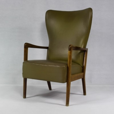 Danish Wing Chair by Søren Hansen for Fritz Hansen, 1960s