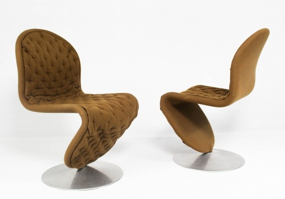 System 1-2-3 chairs by Verner Panton for Fritz Hansen, 1960s