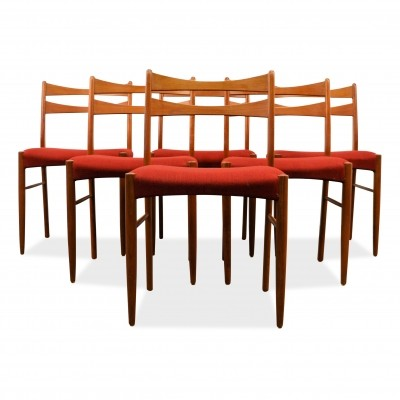Set of 6 vintage dining chairs, 1960s