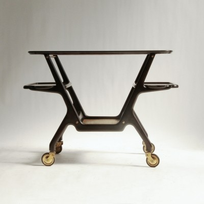 Serving trolley from the fifties by Cesare Lacca for unknown producer