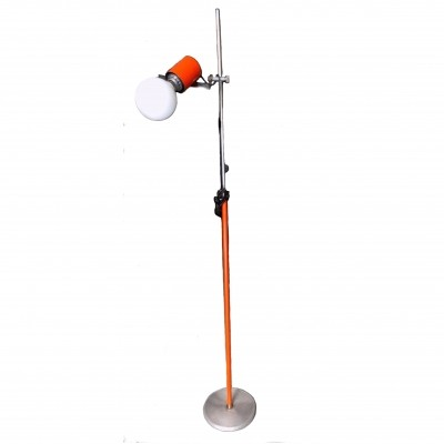 1970s Orange metal floor lamp