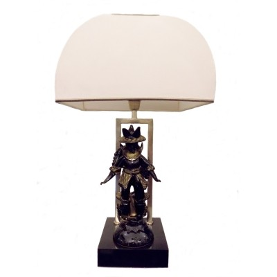 Table lamp with glass samurai by Barovier & Toso, 1960s