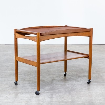 Serving trolley from the sixties by Poul Hundevad for Hundevad & Co