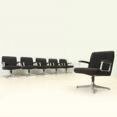 Set of Six P125 Chairs by Osvaldo Borsani for Tecno