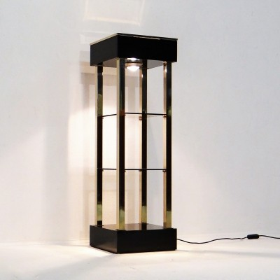 Gold plate etagère cabinet from the eighties by unknown designer for Belgo Chrom