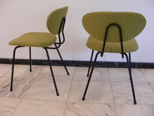 2 model 145 dinner chairs from the fifties by Kurt Nordstroem for Knoll