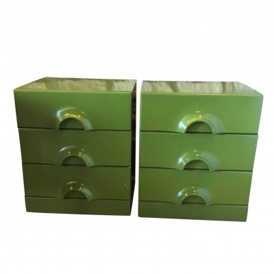 2 Quadro chest of drawers from the seventies by Jurgen Lange for Schönbuch
